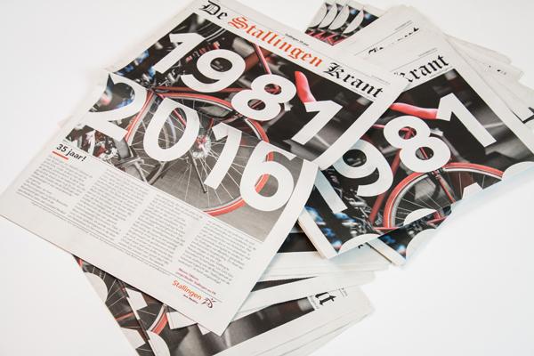 Grafische vormgeving krant